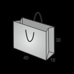 Papiertaschen Large Quer