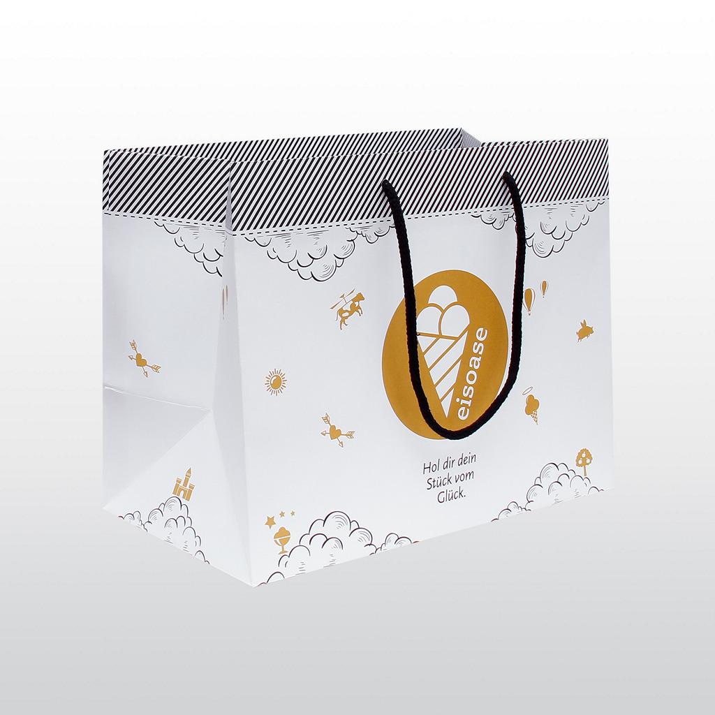 Papiertaschen Eisoase